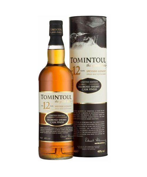 Tomintoul 12 Year Old Oloroso Sherry Cask Finish Single Malt Scotch Whisky